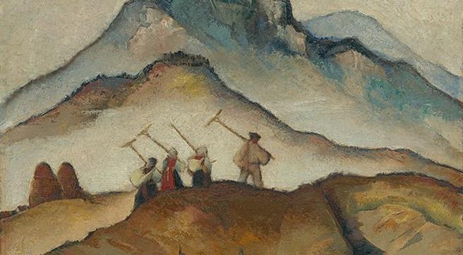 Ausschnitt aus: Martin Benka, Na pole, 1934. Slovenská národná galéria (SNG) public domain.