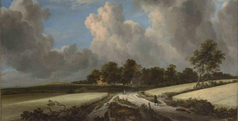 Ausschnitt aus: Jacob van Ruisdael, Wheat Fields, ca. 1670, Metropolitan Museum of Art CC0 1.0