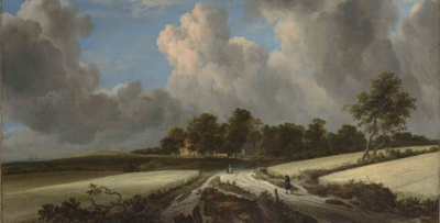 Ausschnitt aus: Jacob van Ruisdael, Wheat Fields, ca. 1670, Metropolitan Museum of Art CC0 1.0